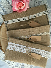 Handmade Hessian Envelope Hessian Money Wallet Wedding Fathers Day Gift Idea