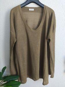 Dreis Van Noten Pullover Sweater Knit Long Sleeve Linen Blend Size M