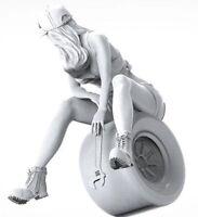 1/35 Resin Car Mechanic Female Worker Unpainted Unbuild BL822