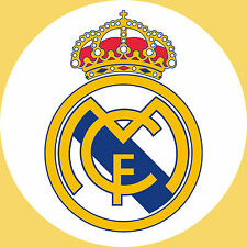 Real Madrid Edible Icing Party Cake Topper Decoration Image Custom
