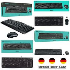 Logitech Funk QWERTZ Tastatur + Wireless Maus SET Keyboard Mouse USB Kabel PC