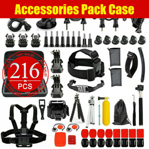 216pcs Accessories Case Pack Chest Head Floating Monopod GoPro Hero 9 8 7 6 5 4