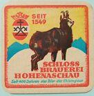 ALTER Bierdeckel  SCHLOSS BRAUEREI HOHENASCHAU 🍺 BRD-H-65