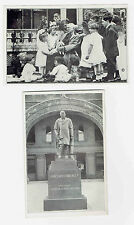 Greenfield Indiana James Whitcomb Riley Court House Square Statue & friends N=2