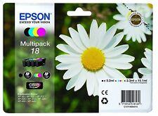 Genuine Epson T1806 18 Multipack Black Cyan Magenta Yellow Daisy Ink T1801/2/3/4
