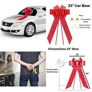 Zoe Deco Big Car Bow (23 Red, 1 Pack), Gift Bows, Giant Bow For Car, Birthday Bo