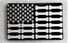 "PAWS and BONES FLAG, Billet Aluminum Trailer Hitch plug Cover, 3"" X 5"""
