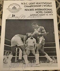 MATTHEW SAAD MUHAMMAD V JOHN CONTEH I-WORLD LHWC-1979-BOXING PROGRAM