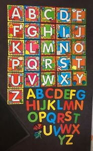 Home School Large Lacing ABC Square Cards 52 letters & laces - Educational Lacer