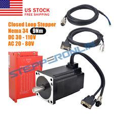 Nema 34 9nm Closed Loop Stepper Servo Motor 2 Phase Hybrid Driver Cl86y Cnc Kit