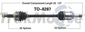 CV Axle Shaft Front Left SurTrack TO-8287 fits 12-15 Scion iQ