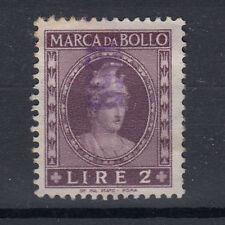 1959 DEA ROMA MARCA DA BOLLO 2 LIRE TESTA PICCOLA ANNULLATA BEN CONSERVATA