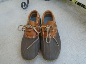 LL Bean Womens Waterproof Rubber Moc Bean Boots Shoes 8