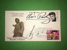1993 & 2015 Elvis Presley FDC Beale St Statue Memphis Collectibles Dual Cancel