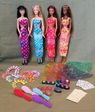 Amazing Nails Barbie #53379, Christie #53380, Kayla #53381 & Lea #53382  MINT