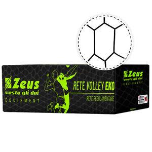 Zeus 9,5x1m Jeu Entrainement Sport Mannschafts Maille Filet de Volley Noir Neuf