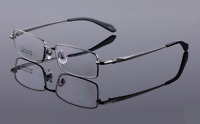 Mens Pure Titanium Rectangle Eyeglass Frames Optical Spectacle Rx-able Glasses