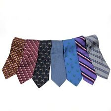Lot of 7 BROOKS BROTHERS 100% Silk Mens Luxury Ties Cheetah Duck Whale Stripes
