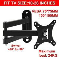 TV Wall Mount Bracket Tilt Swivel 10 14 16 18 20 21 22 23 24 26 LCD LED PLASMA
