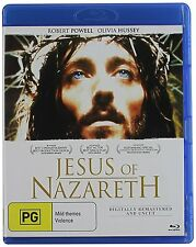 JESUS OF NAZARETH (Robert Powell)  -  Blu Ray - Sealed Region B  for UK
