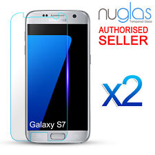 2X Galaxy S7 GENUINE NUGLAS Tempered Glass Screen Protector Film For Samsung
