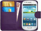 Housse Etui Coque Portefeuille Simili Cuir Pour Samsung Galaxy S3 Mini + Film