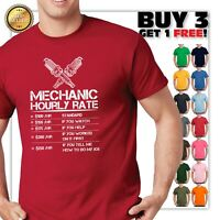 Funny Mechanic Hourly Rate Gift Shirt Labor Rates T-Shirt