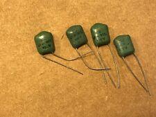 4 Nos Icc Green Drop .1 uf 100v Capacitors Vintage Chicklet Guitar Tone Caps (Qt