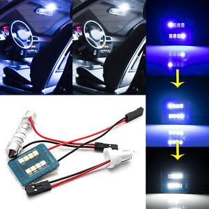 DE3175 T10 168 8000k Blue to 6000k White Fading LED Interior Dome Light Bulbs 1x