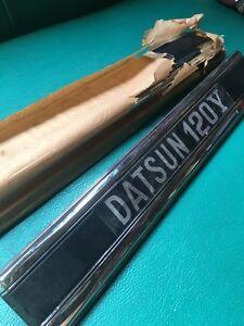 DATSUN SUNNY B210 B310 120Y Trunk Lid Emblem BADGE GENUINE NOS JAPAN