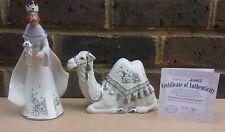 More details for hawthorne village silver blessings nativity - king balthazar & trusted camel