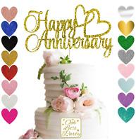23. Happy Anniversary Cake Topper, Choose your colour, Cake decoration, premium.
