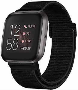 Nylon Bands For Fitbit Versa 2 Soft Adjustable Breathable Sport Replacement Stra