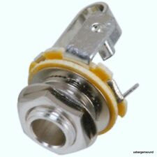 "Neutrik Rean NYS229 1/4"" 6.35 mm Female Panel Jack Guitar TS Mono  Non-Switched"