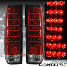 Red / Clear LED Tail lights for 1986-1997 Nissan Hardbody Pickup Truck Pair