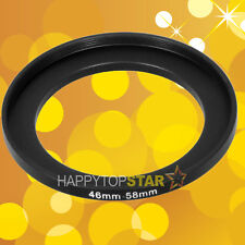 Step Up 46mm to 58mm Lens Camera Filter Ring Adapter Mount 46-58mm Metal Adaptor