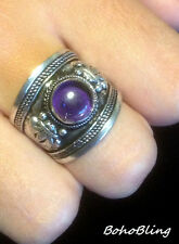 Oval Amethyst Costume Rings