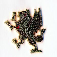 Enamel Lapel Badge ROYAL WELSH . Rampant Dragon