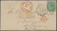 Gb #28 On Cover Newton-Abbott,Uk To Dubuque, Iowa With (2) Red Cds Bq6725