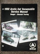 1992 Arctic Cat Cougar Cheetah Touring Snowmobile Service Repair Shop Manual OEM