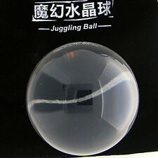 Clear UV Translucent Acrylic contact Juggling ball 90mm 490g + Protective Pouch