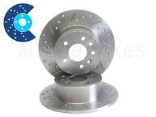 Rover 800 Rear Drilled Grooved Brake Discs 86-99