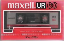Rare Cassette MAXELL UR 60 Type I Normal Sealed