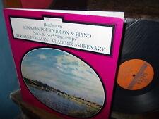 BEETHOVEN: Violin & Piano sonatas n°4 & 5   Perlman Ashkenazy / Decca France LP