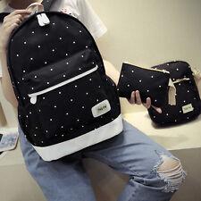 3Pcs SET Women bag Backpack Girl School Shoulder Bag Rucksack Canvas Travel bags