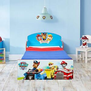 Paw Patrol Kids Character Bed Toddler Child Red Blue Chase Super Hero Fun