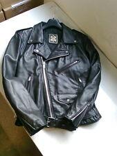 Motorrad Chopper Leder Jacke Schwarz Damen Größe 48