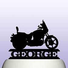Personalised Acrylic Classic Motorcycle Cake Topper Decoration Keepsake Bike