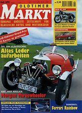 Markt 8/95 1995 Opel Rekord A B Audi 100 DKW RT 350 Morgan Threewheeler Cadillac