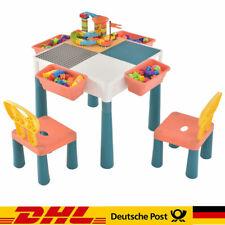 2 in 1 Kindertisch Mit Stühlen Spieltisch Aktivitätstisch Kinderschreibtisch